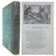Livres d'occasion: 1946 - LAS FÁBULAS DE LA FONTAINE - BONITA EDICIÓN ILUSTRADA CON GRABADOS Y DIBUJOS. Lote 209187073