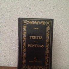 Livres d'occasion: OVIDIO: TRISTES. PÓNTICAS. Lote 209236150
