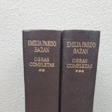 Libros de segunda mano: TOMO II Y TOMO III DE LAS OBRAS COMPLETAS. EMILIA PARDO BAZÁN. EDITORIAL AGUILAR. Lote 209348190