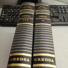Libros de segunda mano: MIKA WALTARI / OBRAS COMPLETAS TOMO 1 Y 3 / LUIS DE CARALT EDITOR 1958 - 1962. Lote 210377087
