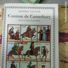 Libros de segunda mano: CUENTOS DE CANTERBURY. EDICIÓN DE PEDRO GUARDIA MASSÓ. ED. CÁTEDRA.. Lote 210419690