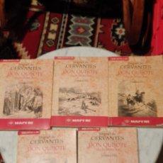 Libros de segunda mano: LIBRO DON QUIJOTE DE LA MANCHA 5 TOMOS ELSOL. Lote 210423548