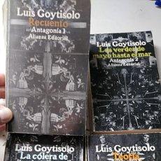 Libros de segunda mano: LUIS GOYTISOLO. ANTAGONÍA COMPLETA. ALIANZA EDITORIAL. Lote 210638860