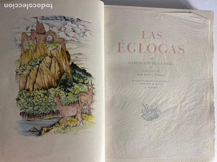 Libros de segunda mano: L-1895. LAS ÉGOLGAS, GARCILASO DE LA VEGA.1945. EJEMPLAR NUEMRADO. AMPHION, BARCELONA. - Foto 5 - 210749436