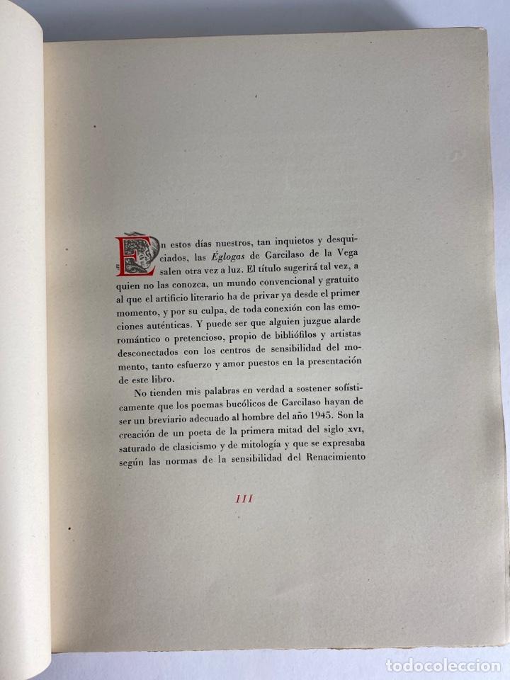 Libros de segunda mano: L-1895. LAS ÉGOLGAS, GARCILASO DE LA VEGA.1945. EJEMPLAR NUEMRADO. AMPHION, BARCELONA. - Foto 8 - 210749436