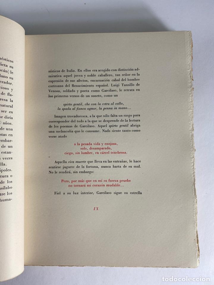Libros de segunda mano: L-1895. LAS ÉGOLGAS, GARCILASO DE LA VEGA.1945. EJEMPLAR NUEMRADO. AMPHION, BARCELONA. - Foto 9 - 210749436