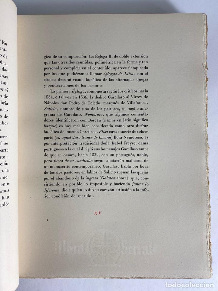 Libros de segunda mano: L-1895. LAS ÉGOLGAS, GARCILASO DE LA VEGA.1945. EJEMPLAR NUEMRADO. AMPHION, BARCELONA. - Foto 10 - 210749436