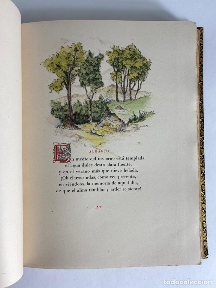 Libros de segunda mano: L-1895. LAS ÉGOLGAS, GARCILASO DE LA VEGA.1945. EJEMPLAR NUEMRADO. AMPHION, BARCELONA. - Foto 12 - 210749436