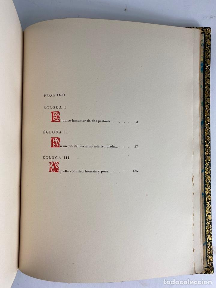Libros de segunda mano: L-1895. LAS ÉGOLGAS, GARCILASO DE LA VEGA.1945. EJEMPLAR NUEMRADO. AMPHION, BARCELONA. - Foto 18 - 210749436
