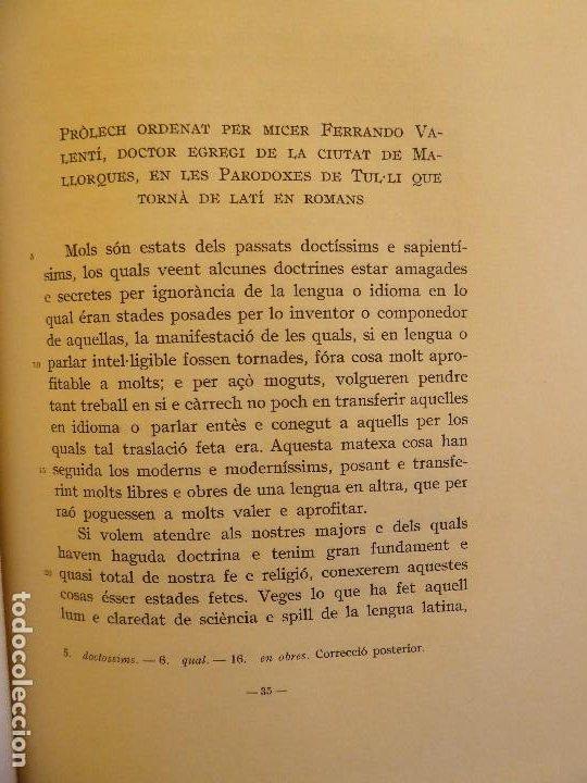 Libros de segunda mano: L-5474. TRADUCCIÓ DE LES PARADOXA DE CICERÓ.PARLAMENT AL GRAN GENERAL CONSELL.BARCELONA 1959. - Foto 4 - 210758804
