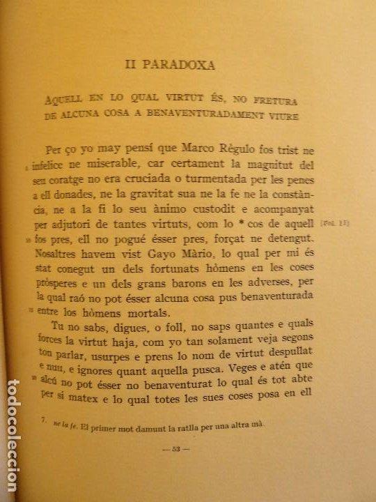 Libros de segunda mano: L-5474. TRADUCCIÓ DE LES PARADOXA DE CICERÓ.PARLAMENT AL GRAN GENERAL CONSELL.BARCELONA 1959. - Foto 5 - 210758804