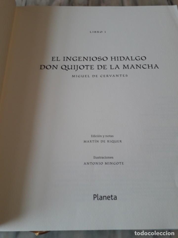 Libros de segunda mano: Quijote ilustrado por Mingote - Foto 5 - 210818665