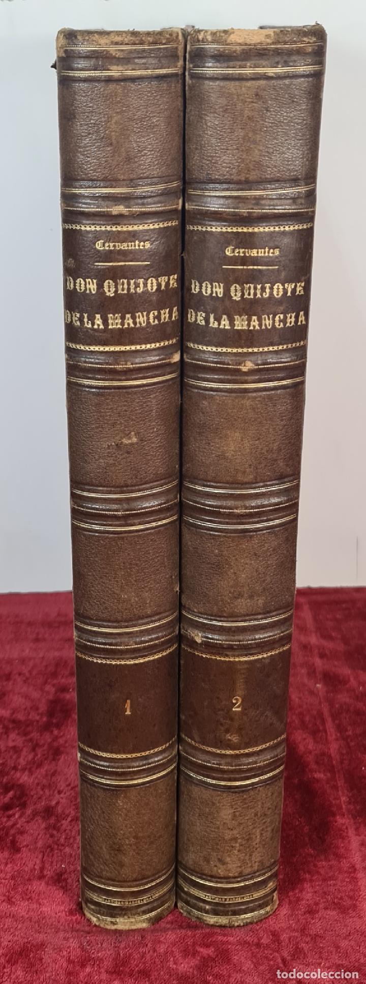 Libros de segunda mano: EL INGENIOSO HIDALGO DON QUIJOTE DE LA MANCHA. CERVANTES. IMP TOMAS SORCH. 1865. - Foto 2 - 211273695