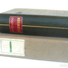 Libros de segunda mano: 1964 - BOCCACCIO: DECAMERON - ANTIGUA TRADUCCIÓN CATALANA DEL AÑO 1429 - PIEL + CAJA ORIGINAL. Lote 211403106