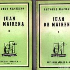 Libros de segunda mano: ANTONIO MACHADO : JUAN DE MAIRENA - DOS TOMOS (LOSADA, 1957). Lote 212084026