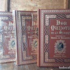 Libros de segunda mano: DON QUIJOTE AGUILAR 3 TOMOS. Lote 212402928