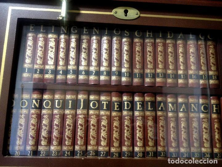 EL INGENIOSO HIDALGO DON QUIJOTE DE LA MANCHA- COLECCION TOMOS MINI CON VITRINA (Libros de Segunda Mano (posteriores a 1936) - Literatura - Narrativa - Clásicos)