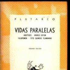 Libros de segunda mano: AUSTRAL Nº 918 : PLUTARCO - VIDAS PARALELAS - ARISITDES /MARCO CATON /FILOPEMEN /TITO QUINCIO (1949). Lote 222034477