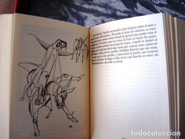 Libros de segunda mano: El Quijote, 2 tomos, edición conmemorativa de lujo en miniatura, Il. Ciro Oduber - Foto 5 - 213697692