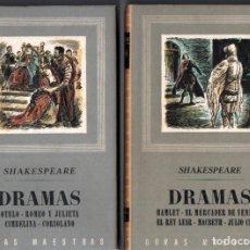 Libros de segunda mano: SHAKESPEARE : DRAMAS - DOS TOMOS (IBERIA, 1949 - 1945). Lote 213713865