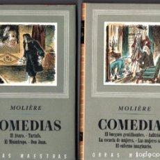 Libros de segunda mano: MOLIERE : COMEDIAS - DOS TOMOS (IBERIA, 1955). Lote 213713975