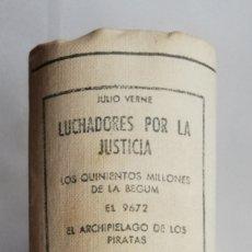 Libros de segunda mano: 4 NOVELAS DE JULIO VERNE (LUCHADORES POR LA JUSTICIA) -1958 - ED. M.ARIMANY - PJRB. Lote 214140466