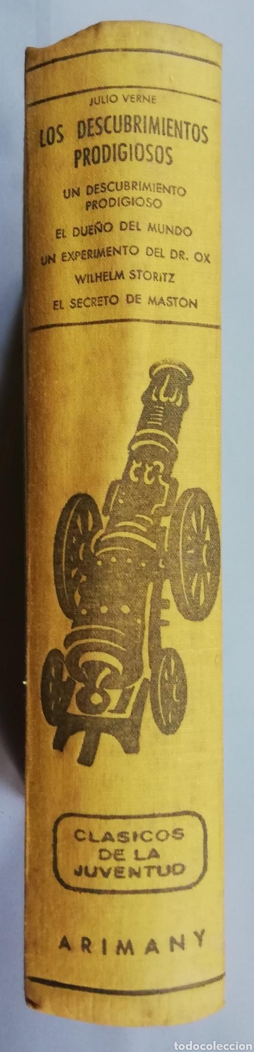 5 NOVELAS DE JULIO VERNE (LOS DESCUBRIMIENTOS PRODIGIOSOS) -1958 - ED. M.ARIMANY - PJRB (Libros de Segunda Mano (posteriores a 1936) - Literatura - Narrativa - Clásicos)