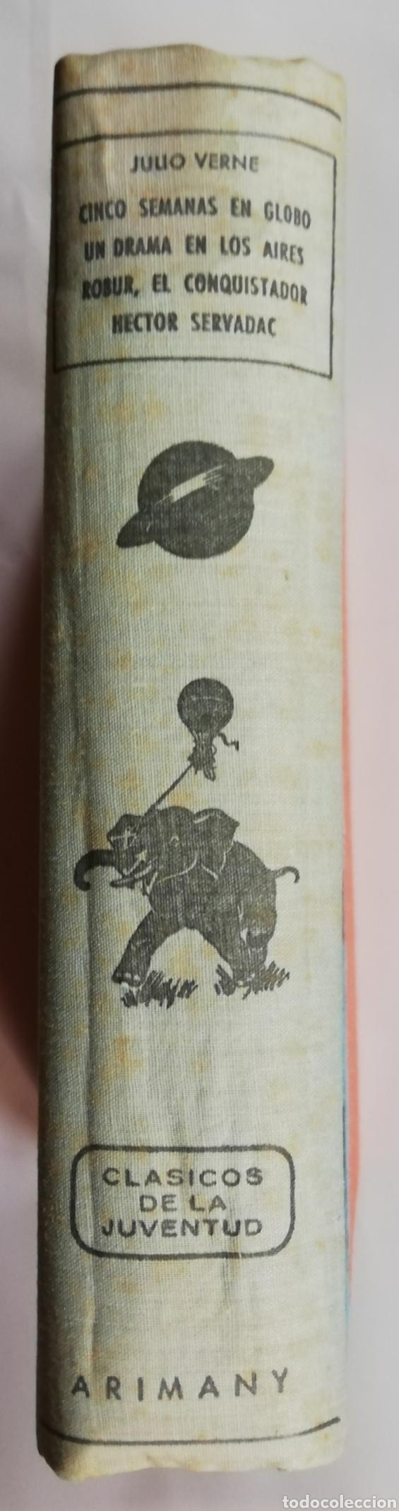 4 NOVELAS DE JULIO VERNE (**) -1958 - ED. M.ARIMANY - PJRB (Libros de Segunda Mano (posteriores a 1936) - Literatura - Narrativa - Clásicos)