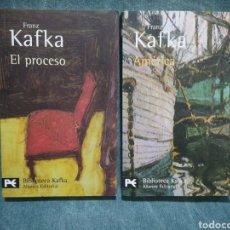 Livros em segunda mão: EL PROCESO / AMÉRICA - FRANZ KAFKA - LOTE DE 2 LIBROS - BIBLIOTECA KAFKA - ALIANZA EDITORIAL. Lote 214379382