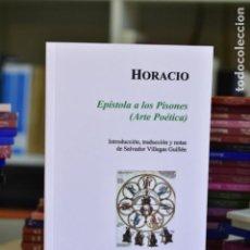 Libros de segunda mano: EPÍSTOLA A LOS PISONES (ARTE POÉTICA)- HORACIO- EDICIONES CLÁSICAS. Lote 214536141