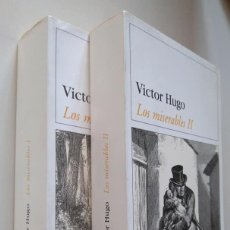 Libros de segunda mano: VÍCTOR HUGO: LOS MISERABLES. DOS VOLÚMENES. EDITORIAL DESTINO. Lote 216484197