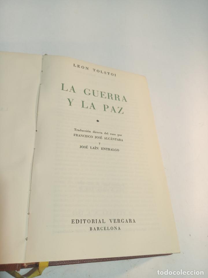 Libros de segunda mano: La guerra y la paz. Leon Tolstoi. 2 tomos. Editorial Vergara. Barcelona. 1963. - Foto 2 - 217020657