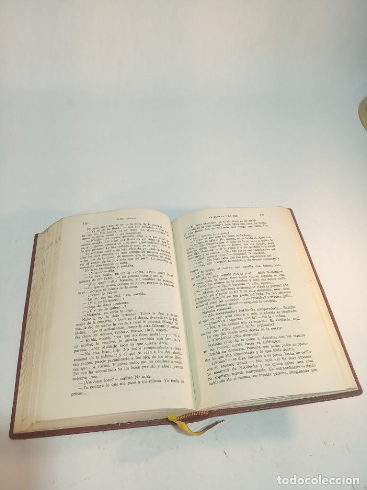 Libros de segunda mano: La guerra y la paz. Leon Tolstoi. 2 tomos. Editorial Vergara. Barcelona. 1963. - Foto 4 - 217020657