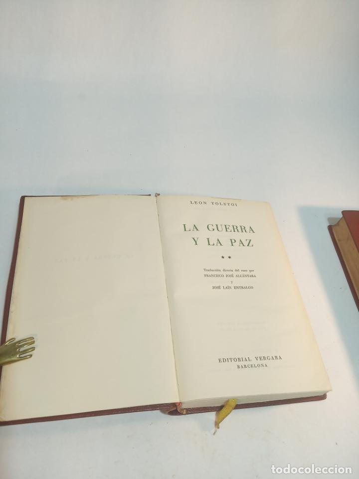 Libros de segunda mano: La guerra y la paz. Leon Tolstoi. 2 tomos. Editorial Vergara. Barcelona. 1963. - Foto 5 - 217020657