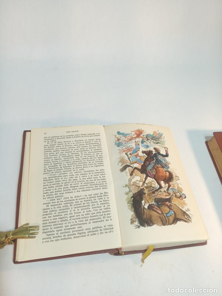 Libros de segunda mano: La guerra y la paz. Leon Tolstoi. 2 tomos. Editorial Vergara. Barcelona. 1963. - Foto 6 - 217020657