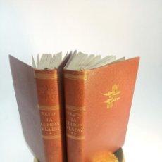 Libros de segunda mano: LA GUERRA Y LA PAZ. LEON TOLSTOI. 2 TOMOS. EDITORIAL VERGARA. BARCELONA. 1963.. Lote 217020657