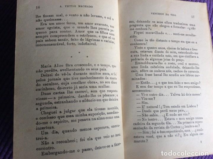 Libros de segunda mano: Vencidos da vida. Por A. Victor Machado, 1936. En portugués - Foto 3 - 217962598