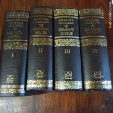 Libros de segunda mano: JOHANN W. GOETHE - COMPLETA CUATRO VOLUMENES - COLECCION GRANDES CLASICOS - EDICIONES AGUILAR - 1991. Lote 218430680
