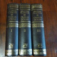 Libros de segunda mano: GRANDES CLÁSICOS. CHARLES DICKENS. TRES VOLÚMENES. AGUILAR, 1991. Lote 218433831
