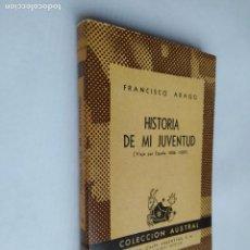 Libros de segunda mano: HISTORIA DE MI JUVENTUD. FRANCISCO ARAGÓ. VIAJE POR ESPAÑA. COLECCIÓN AUSTRAL Nº 556. TDK518. Lote 218542155