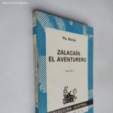 Libros de segunda mano: ZALACAIN EL AVENTURERO. PIO BAROJA. COLECCION AUSTRAL Nº 346. ESPASA CALPE. TDK518. Lote 218543445