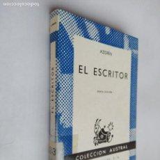Libros de segunda mano: EL ESCRITOR. AZORÍN. COLECCIÓN AUSTRAL Nº 261. ESPASA CALPE. TDK518. Lote 218544443