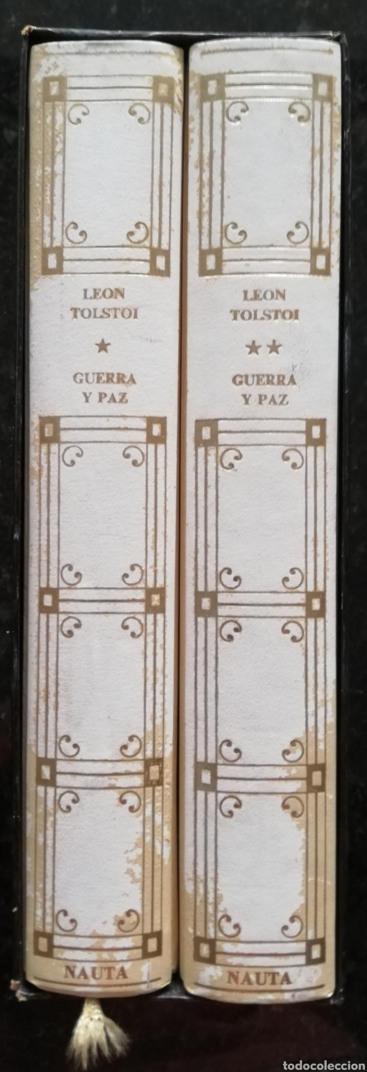 Libros de segunda mano: GUERRA Y PAZ - 1971 - LEÓN TOLSTOI - ED. NAUTA - DOS VOLÚMENES CON ESTUCHE - ILUSTRADO - Foto 5 - 218544497