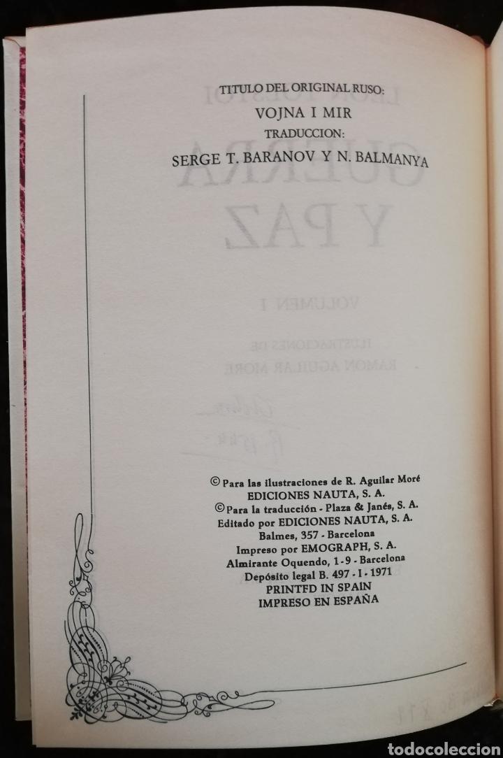 Libros de segunda mano: GUERRA Y PAZ - 1971 - LEÓN TOLSTOI - ED. NAUTA - DOS VOLÚMENES CON ESTUCHE - ILUSTRADO - Foto 2 - 218544497