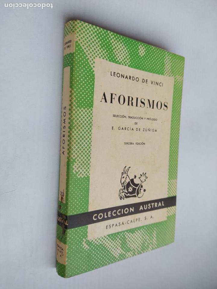 AFORISMOS. LEONARDO DA VINCI. COLECCIÓN AUSTRAL Nº 353. ESPASA-CALPE. TDK518 (Libros de Segunda Mano (posteriores a 1936) - Literatura - Narrativa - Clásicos)