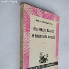 Libros de segunda mano: EN LA ARDIENTE OSCURIDAD. UN SOÑADOR PARA UN PUEBLO. ANTONIO BUERO VALLEJO. AUSTRAL 1510. TDK518. Lote 218544930