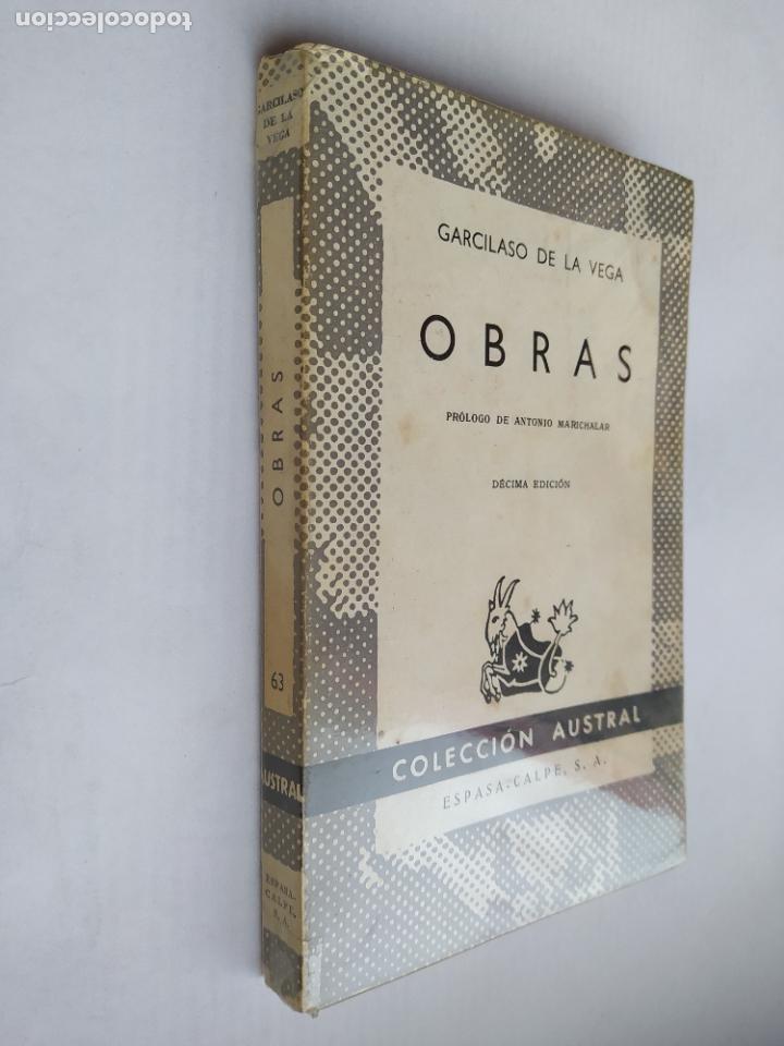 OBRAS. GARCILASO DE LA VEGA. COLECCIÓN AUSTRAL N° 63. ESPASA CALPE. TDK518 (Libros de Segunda Mano (posteriores a 1936) - Literatura - Narrativa - Clásicos)