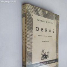 Libros de segunda mano: OBRAS. GARCILASO DE LA VEGA. COLECCIÓN AUSTRAL N° 63. ESPASA CALPE. TDK518. Lote 218544950