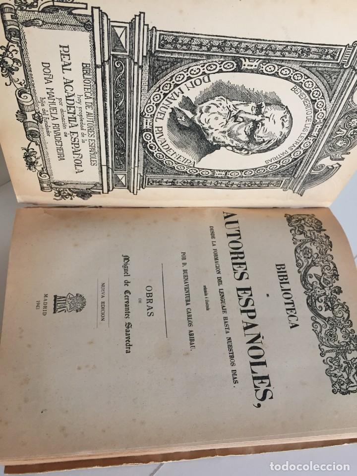 Libros de segunda mano: BIBLIOTECA DE AUTORES ESPAÑOLES. TOMO I. OBRA DE MIGUEL DE CERVANTES SAAVEDRA. ED. ATLAS. 1943. - Foto 8 - 218570238