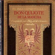 Libros de segunda mano: DON QUIJOTE DE LA MANCHA TOMO I ILUSTRADO POR DANIEL URRABIETA VIERGE (SALVAT, 1930). Lote 218949987